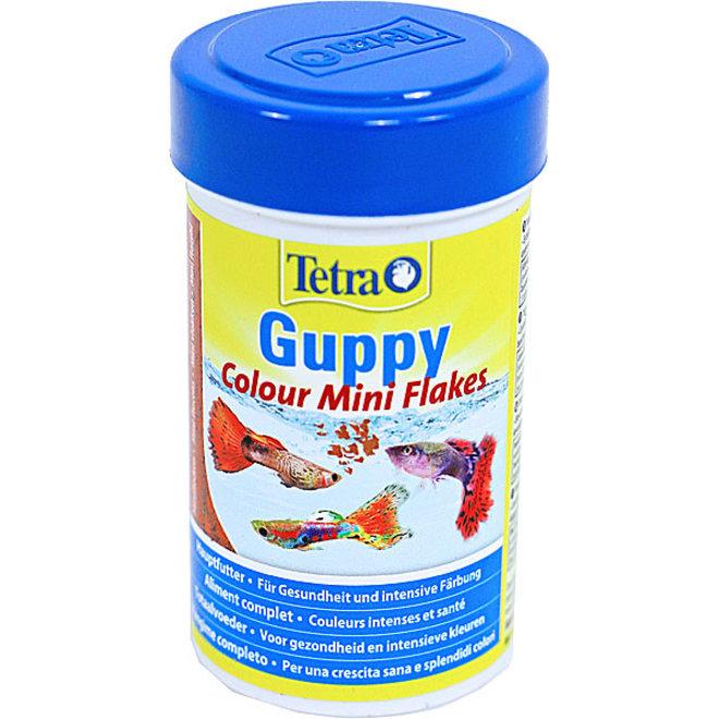 Tetra Guppy Colour Mini vlokken 100 ml, vlokkenvoer