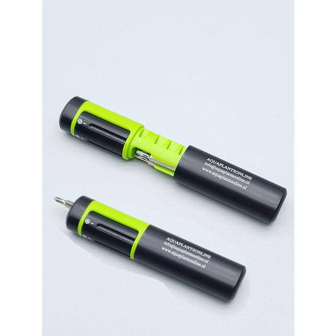 Aquaplantsonline 6-bits schroevendraaier GRATIS bij order vanaf 40 euro (max 1 per bestelling)