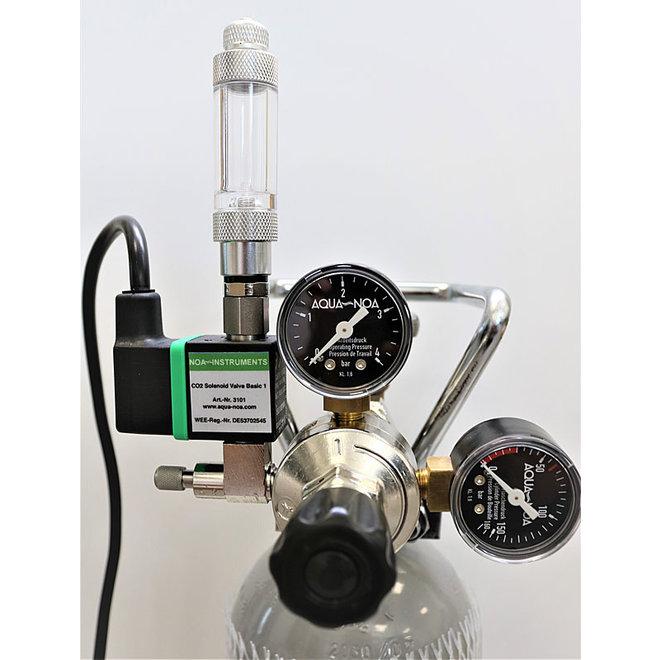 Aqua-Noa CO2 drukregelaar 2 meters MV-BZ incl. magneetventiel + bellenteller