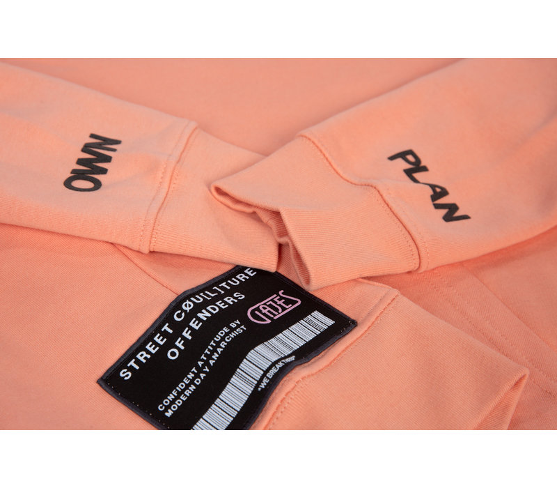Hoodie ''Own Plan'' Sunset Patch