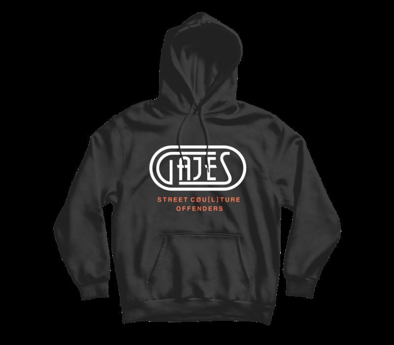Gajes Black/Neon Oranje Hoodie