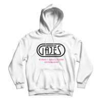 Gajes White/Neon Pink Hoodie