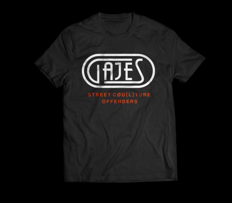 T-Shirt Black/Neon Orange