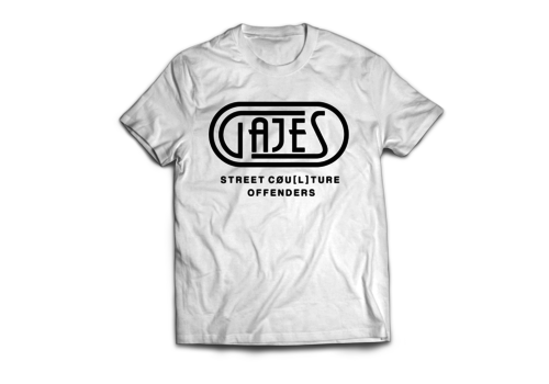Gajes Street Cou(L)ture Offenders GAJES OFFENDERS WHITE