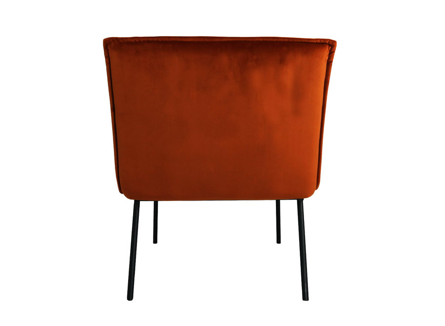Fauteuil Lola - Velvet Orange
