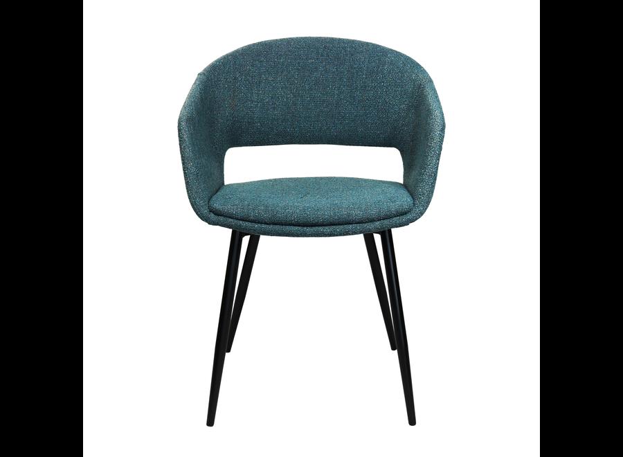 Chaise de salle à manger Dean - Bleu