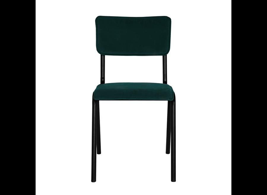 Schoolstoel Cas - Velvet Donker Groen