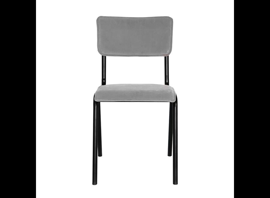 Chaise d'école Cas - Velvet Gris