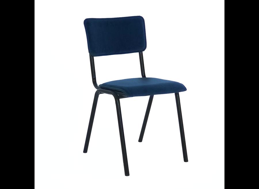 Chaise d'école Cas - Velvet Bleu