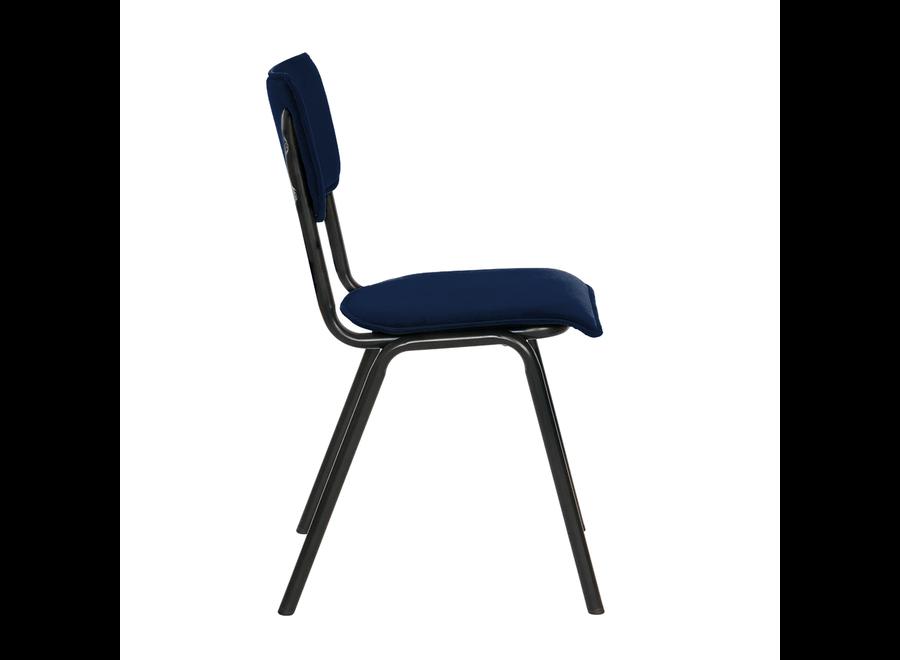 Schoolstoel Cas - Velvet Donker Blauw