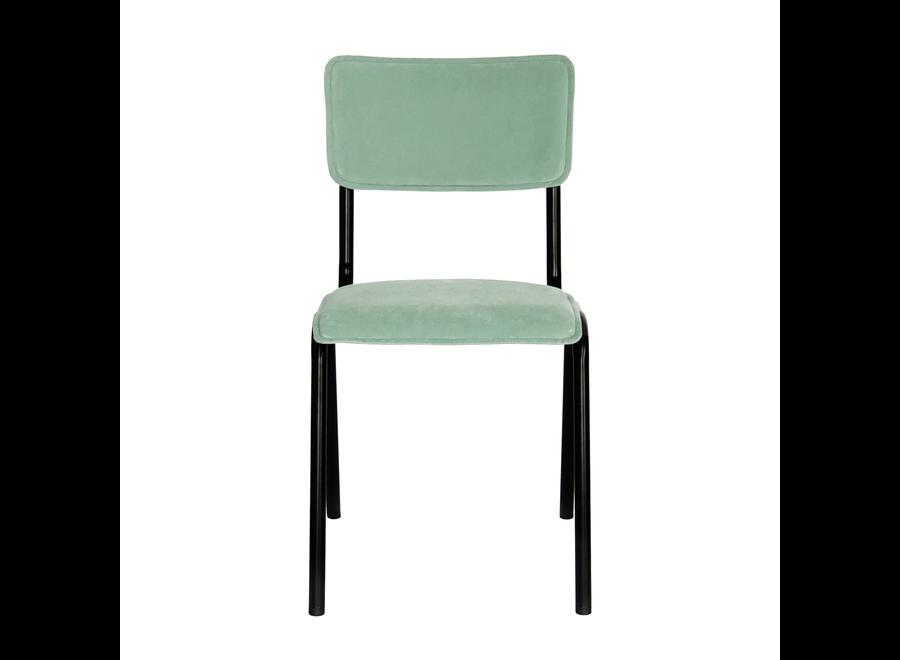 Chaise d'école Cas - Velvet Menthe Verte