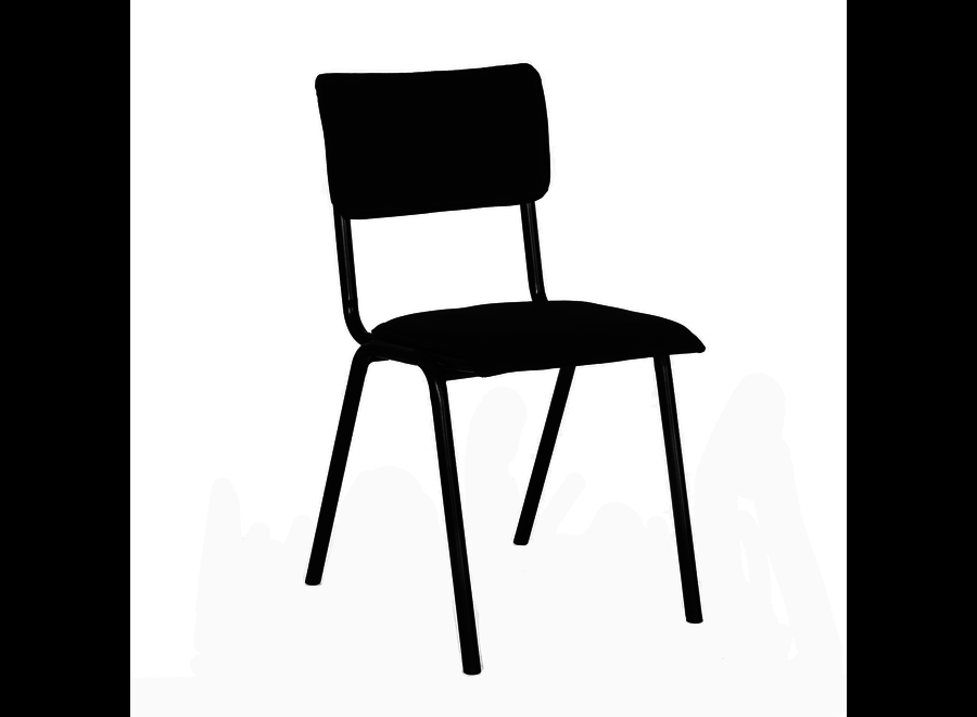 Chaise d'école Cas - Velvet Noir