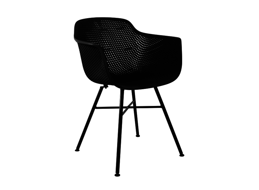 Buitenstoel Indy Zwart - Zwart frame