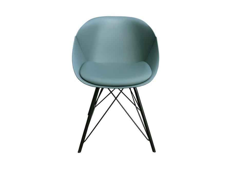 Chaise de salle à manger Metal Jax - Vert