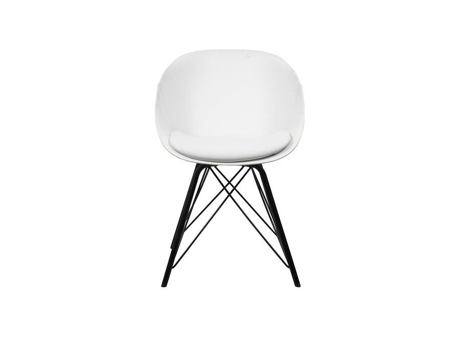 Chaise de salle à manger Metal Jax - Blanc