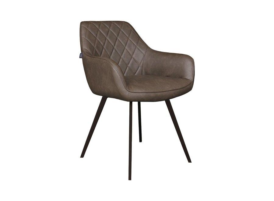 Chaise de salle à manger Karl - Brune