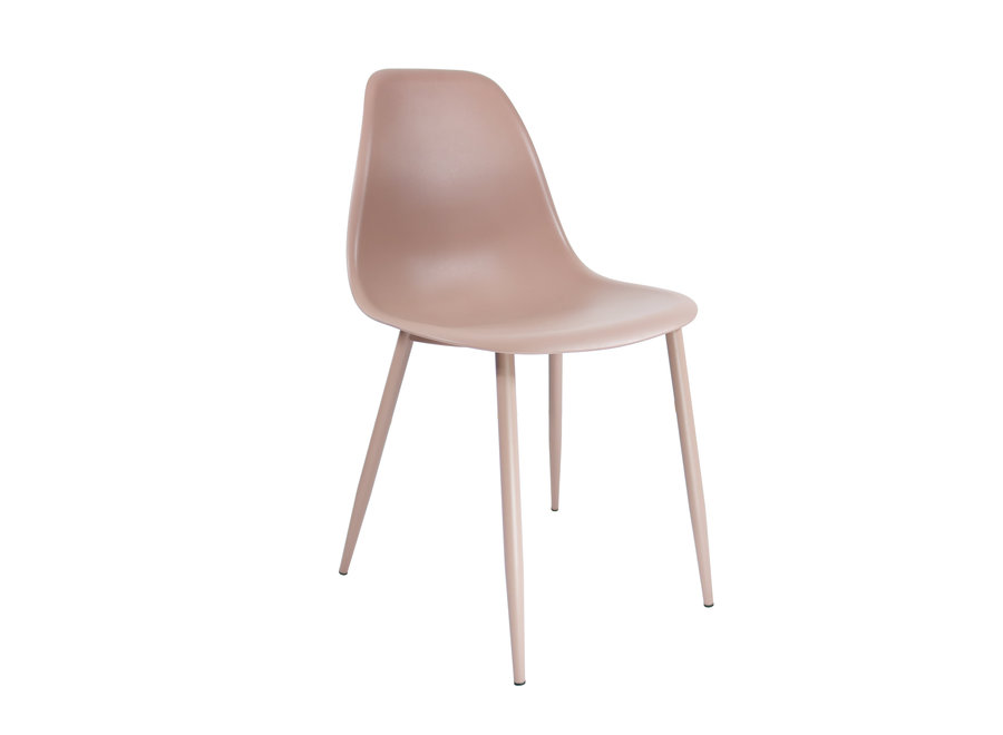 Chaise design Yara - Rose