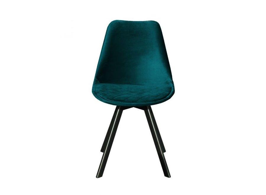Chaise de salle à manger Soof - Bleue