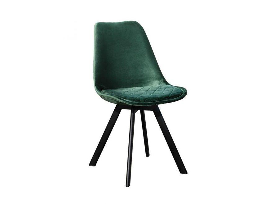 Chaise de salle à manger Soof - Vert foncé
