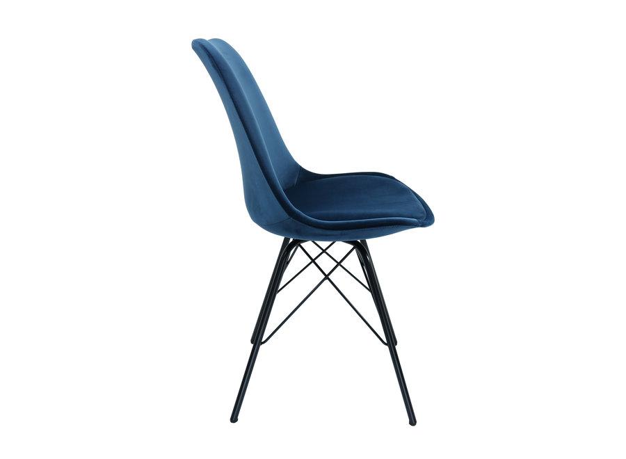 Siège Baquet Velvet Bleu Foncé - Piétement Noir