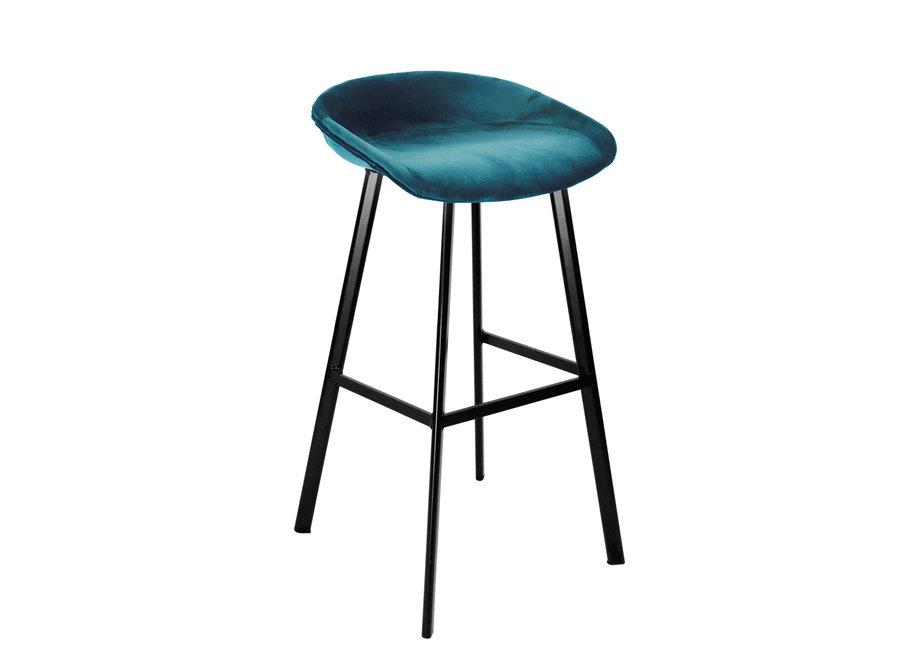 Tabouret de bar Finn bas - Bleu