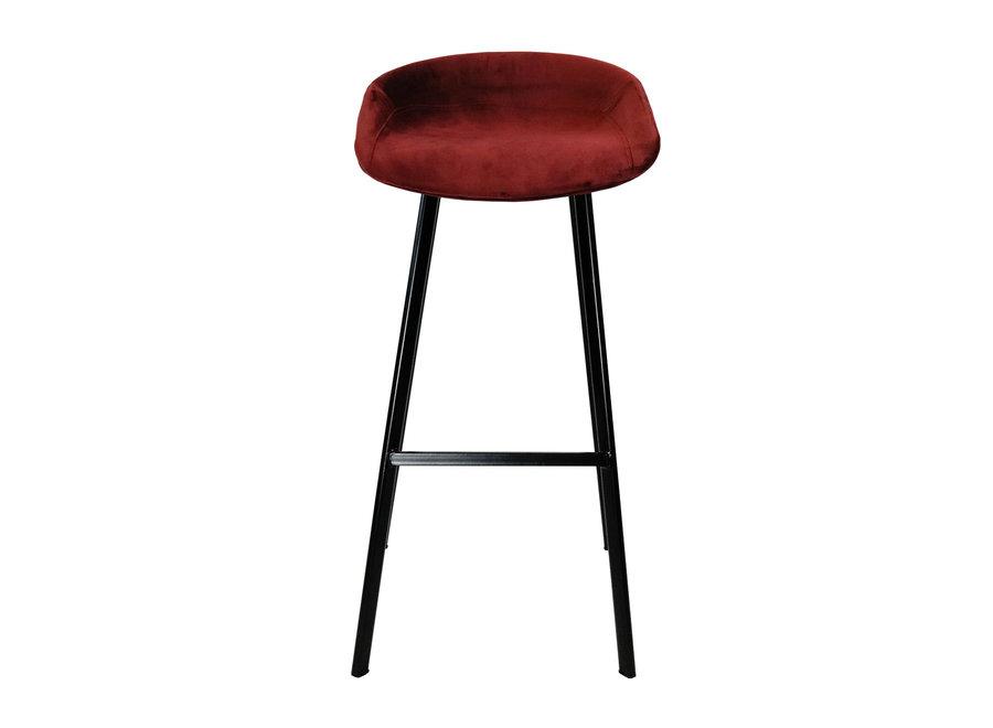 Tabouret de bar Finn bas - Rouge