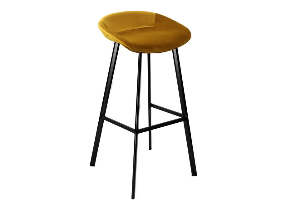 Tabouret de bar Finn haut - Or
