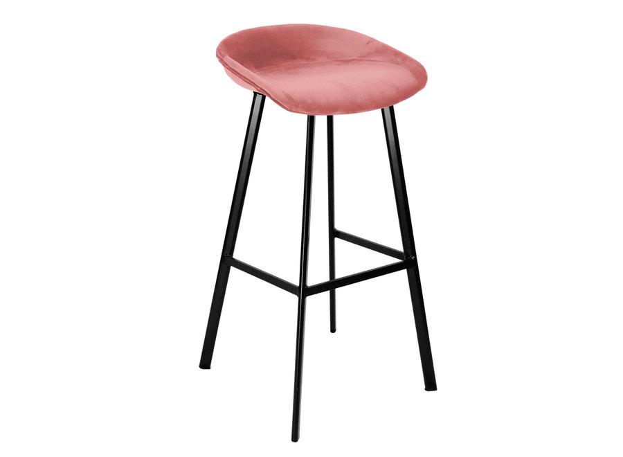 Barkruk Finn hoog - Roze