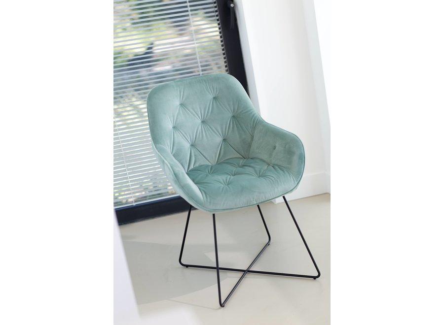 Chaise de salle à manger Tara, Jade- Cross