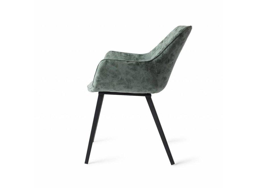 Chaise de salle à manger Boston Vegan Leather  Vert émeraude