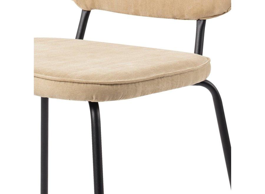Chaise de salle à manger Vender Côtelé Latte