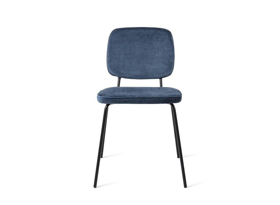 Chaise de salle à manger Vender Velvet Bleu