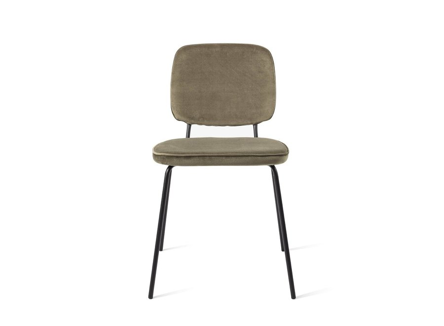 Chaise de salle à manger Vender Velvet Vert mousse