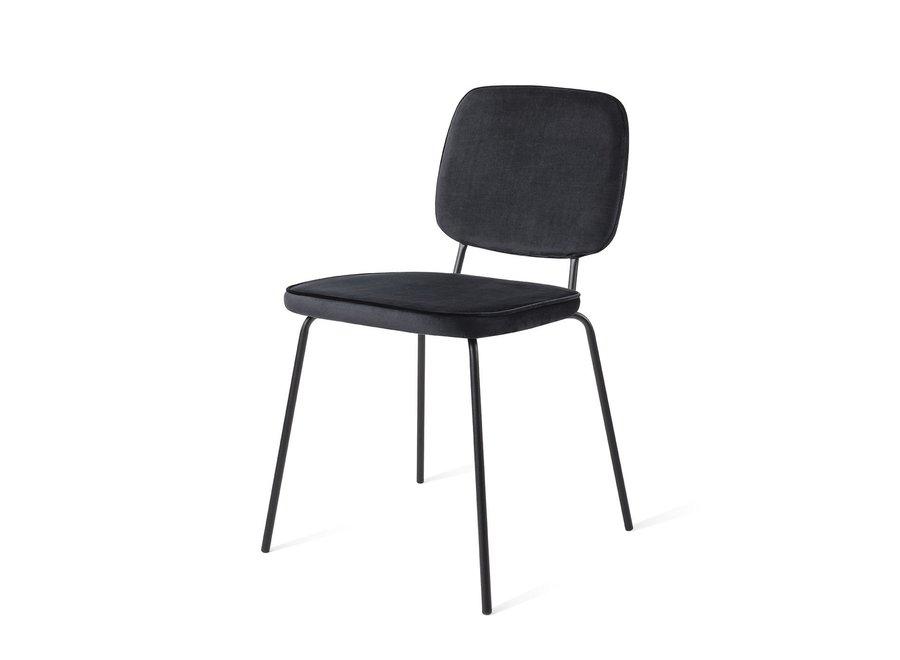 Chaise de salle à manger Vender Velvet Noir