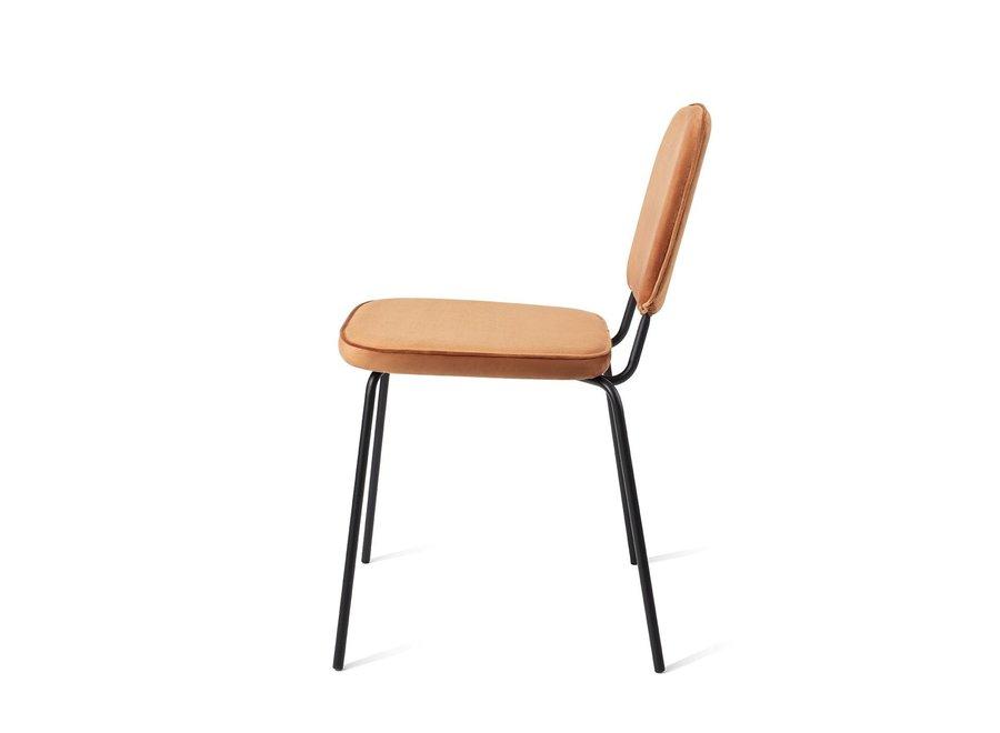 Chaise de salle à manger Vender Velvet Orange
