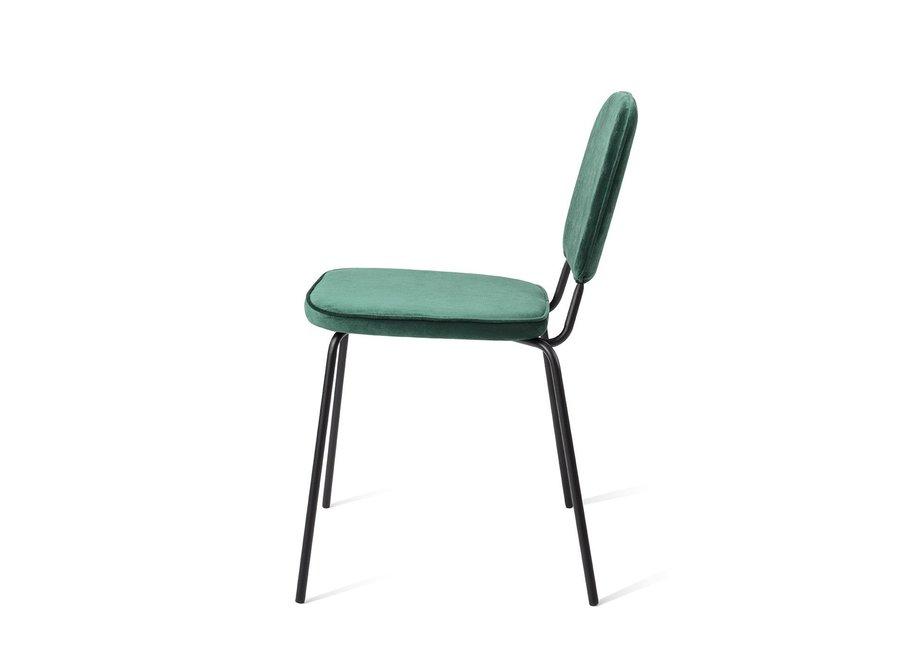 Chaise de salle à manger Vender Velvet Verte
