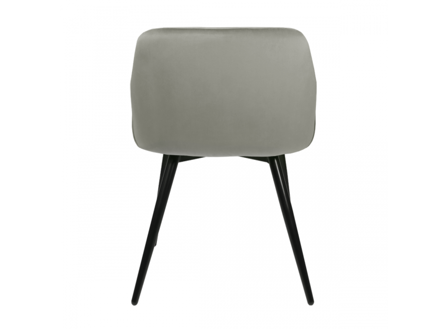 Chaise de salle à manger Matz - Velvet Gris