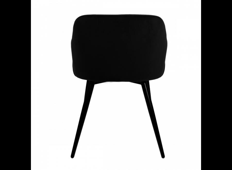 Chaise de salle à manger Matz - Velvet Gris foncé