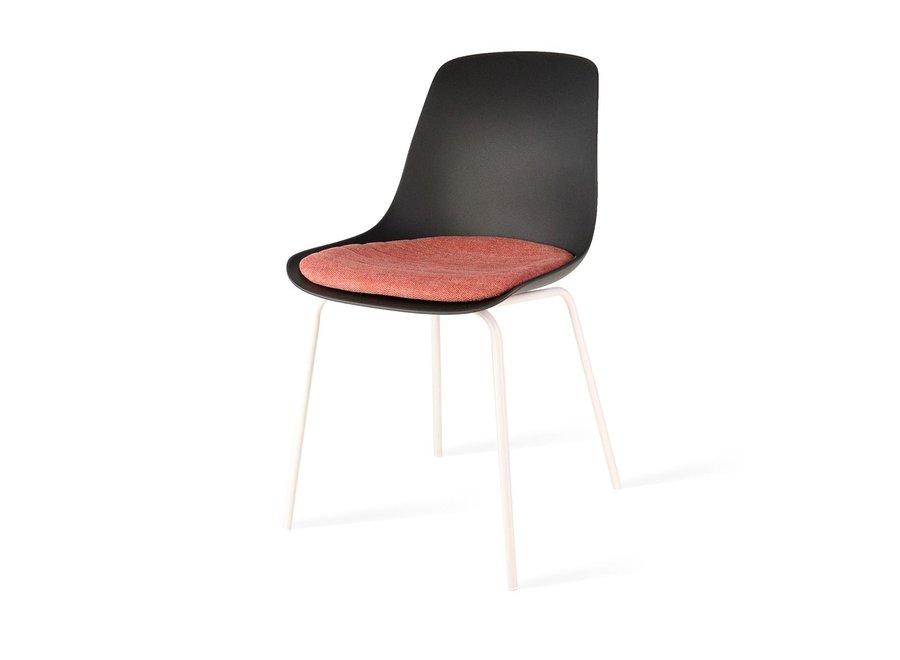 Atrani Noire | Pieds blancs - Coussin de siège en différentes couleurs
