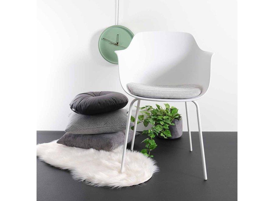 Atrani Wit met armleuning | Witte poten - Zitkussen in verschillende kleuren
