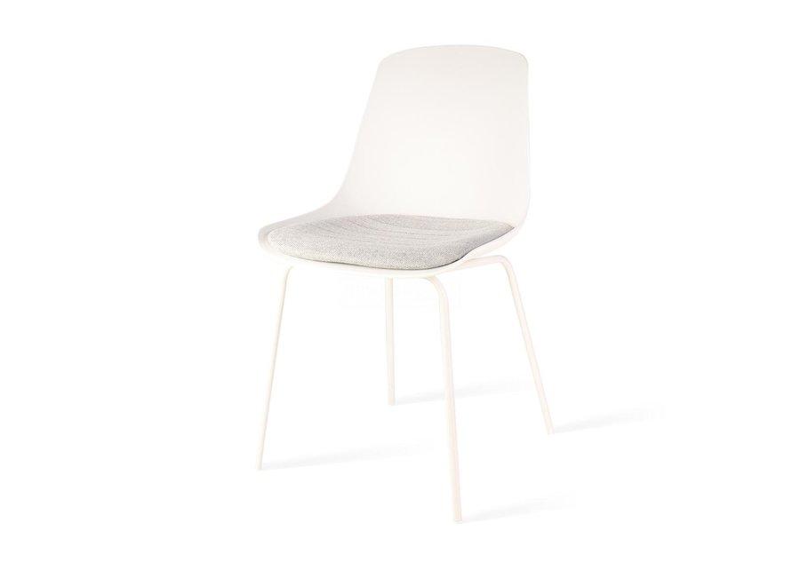 Atrani Blanche | Pieds blancs - Coussin de siège en différentes couleurs