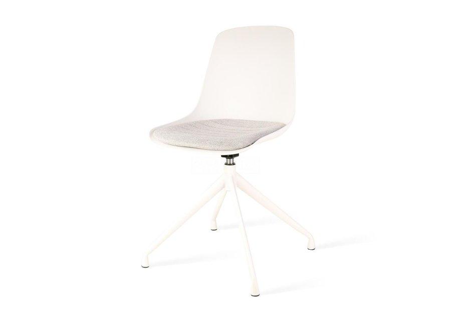 Levanzo Turn  Blanc | Pieds Blanches - Coussin de siège disponible en différentes couleurs