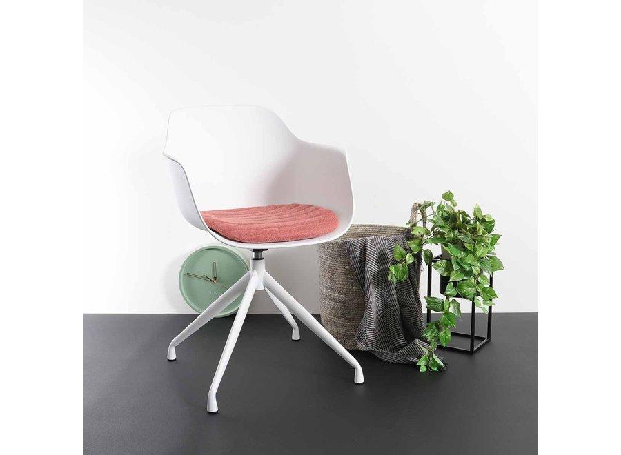 Levanzo Turn Armlauning Wit | Witte poten - Zitkussen verkrijgbaar in verschillende kleuren