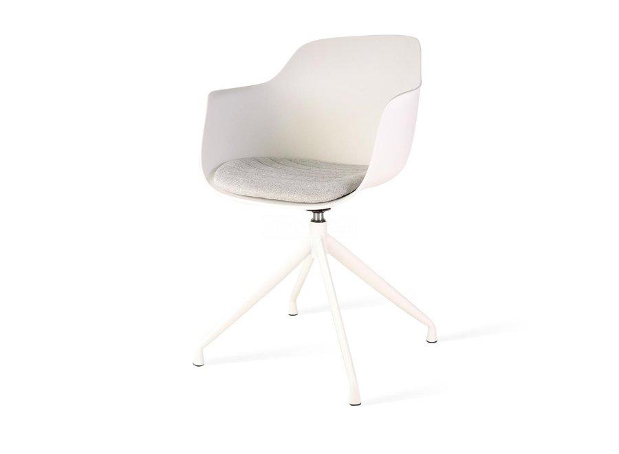Levanzo Turn Armleuning Wit | Witte poten - Zitkussen verkrijgbaar in verschillende kleuren