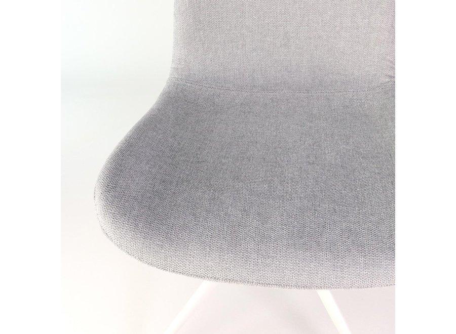 Levanzo Turn Stof | Witte poten - Grijs