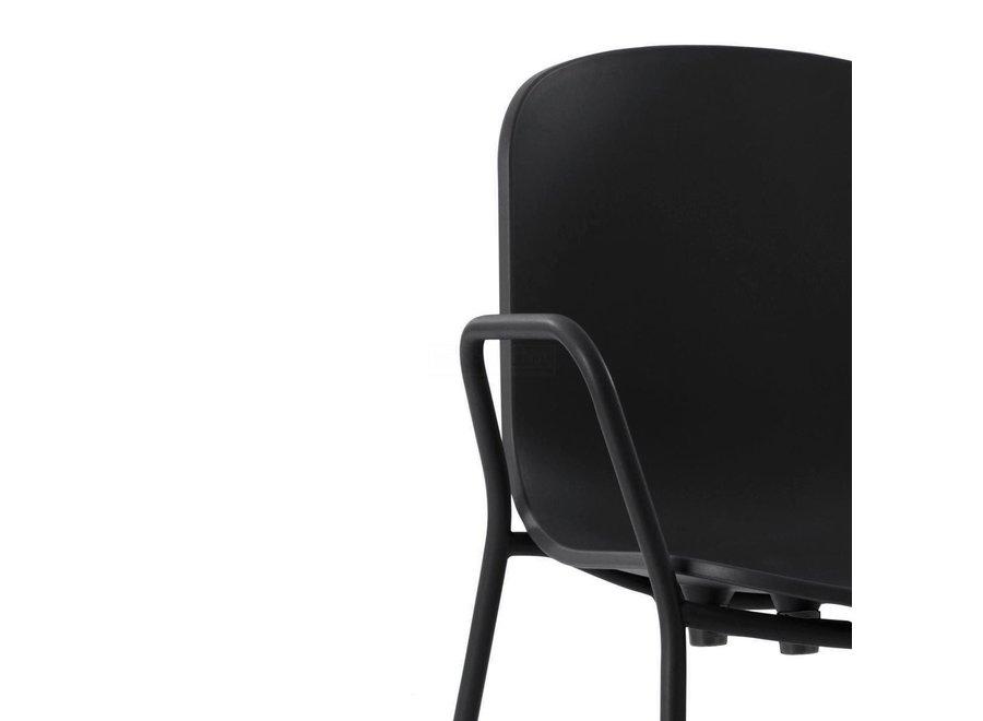 HOLI Closed eetkamerstoel  Met armleuningen - Kunststof  Zwart