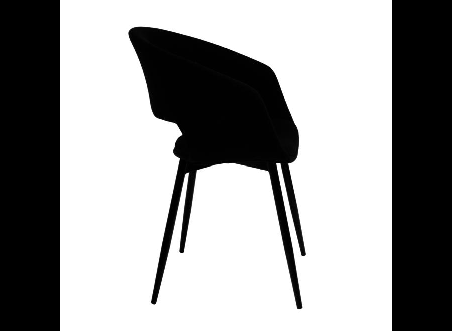 Chaise de salle à manger Dean - Noire
