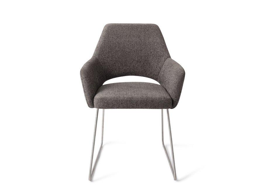Chaise de salle à manger Yanai - Amazing Grey Slide Steel