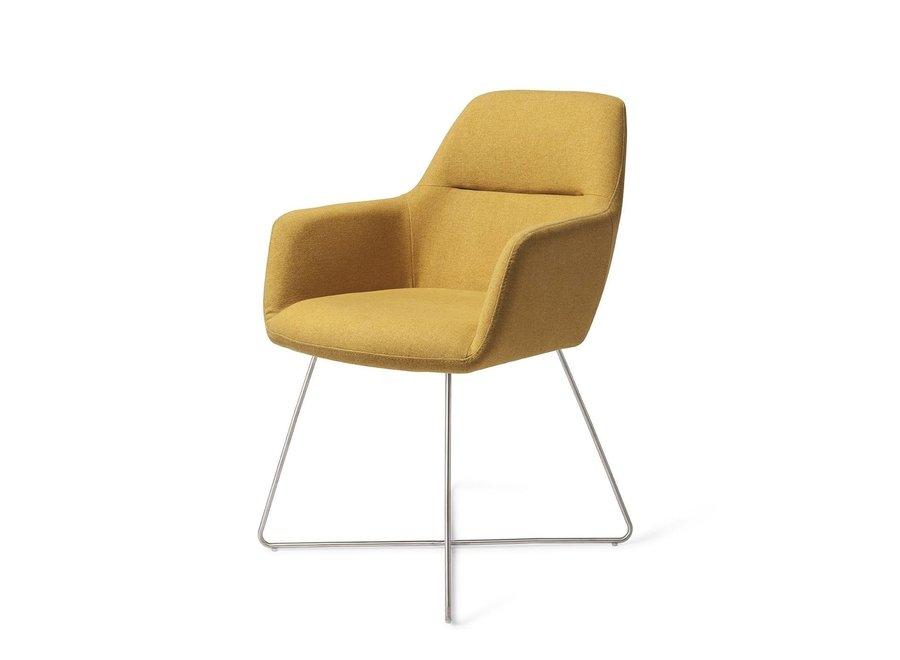 Chaise de salle à manger Kinko - Dijon Cross Steel