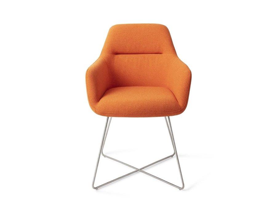Kinko Eetkamerstoel - Tangerine Cross Steel